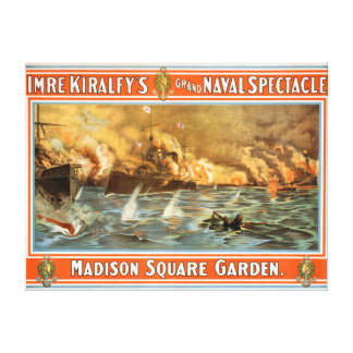 Grand Naval Spectacle Madison Square Garden Gallery Wrapped Canvas