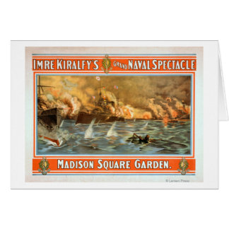 Grand Naval Spectacle Madison Square Garden Greeting Card