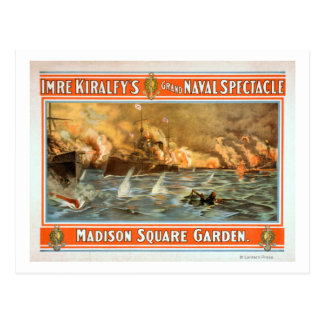 Grand Naval Spectacle Madison Square Garden Postcard