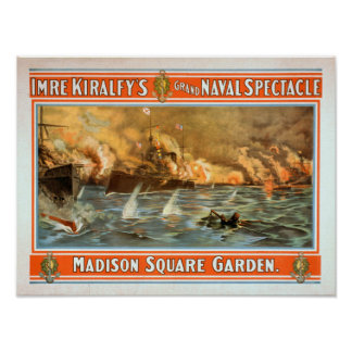 Grand Naval Spectacle Madison Square Garden Print