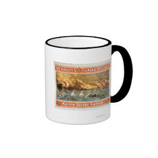 Grand Naval Spectacle Madison Square Garden Ringer Mug