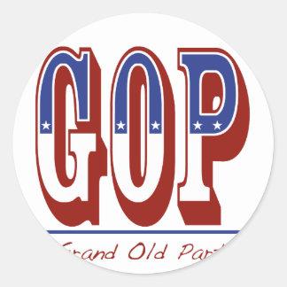 Grand Old Party Round Sticker