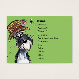 Grand Ole' Schnauzer Cute Business Cards