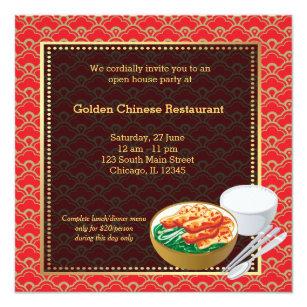 Restaurant opening gifts on zazzle au grand opening chinese restaurant invitation stopboris Images