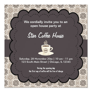 Grand Opening Coffee House Card