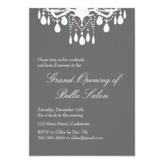 Grand Opening Grand Ballroom on Smokey Gray Card
