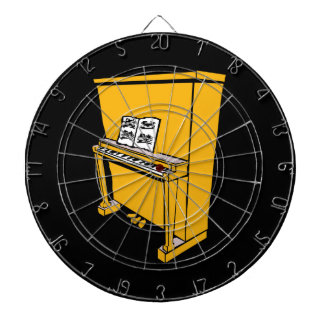 grand orange upright piano with music.png dart board