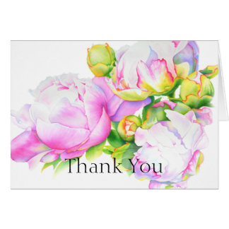 Grand Peony - thank you Card