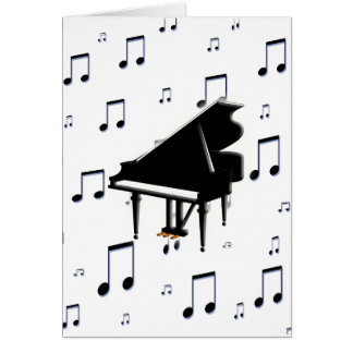 Grand Piano and Music Notes