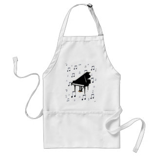 Grand Piano and Music Notes Standard Apron