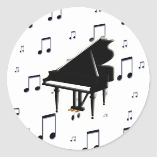 Grand Piano and Music Notes Stickers