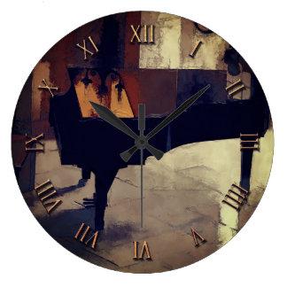 Grand Piano Artwork Large Clock