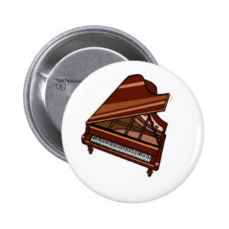 Grand Piano Brown Bird s Eye View Pin