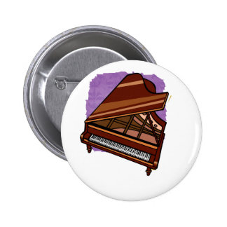 Grand Piano Brown Bird s Eye View Pinback Buttons