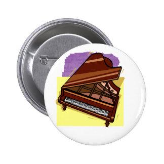 Grand Piano Brown Bird s Eye View Yellow Back Buttons