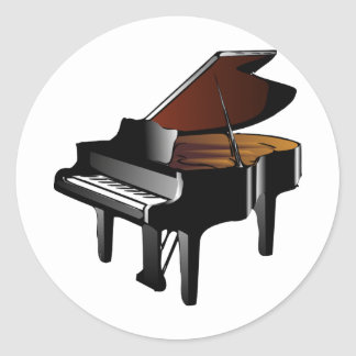 Grand Piano Classic Round Sticker
