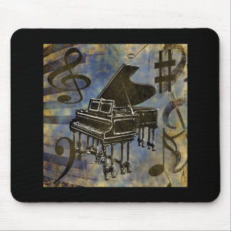Grand Piano Collage Mouse Pad