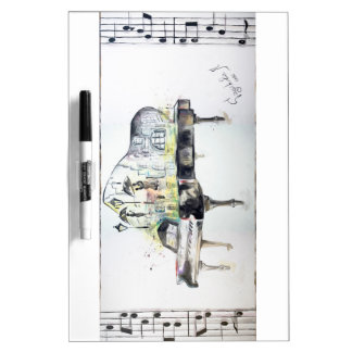 Grand piano dry erase board