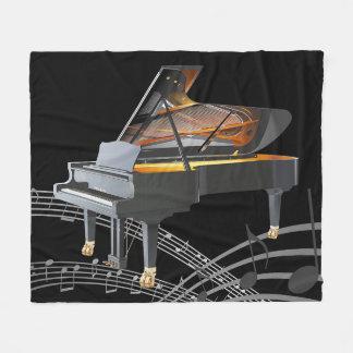 Grand Piano Fleece Blanket