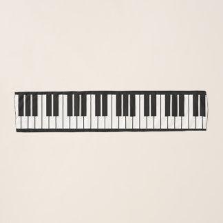 Grand piano keys chiffon scarf for pianist