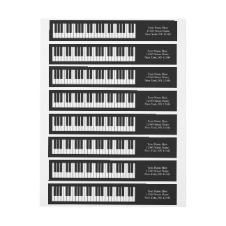 Grand piano keys wraparound return address labels
