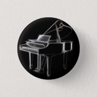 Grand Piano Musical Classical Instrument 3 Cm Round Badge