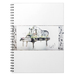 Grand piano note book