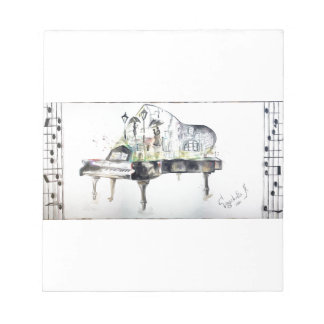 Grand piano notepad