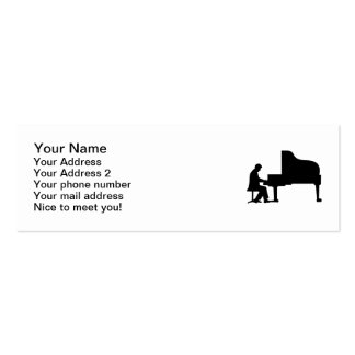 Grand piano pianist business card template