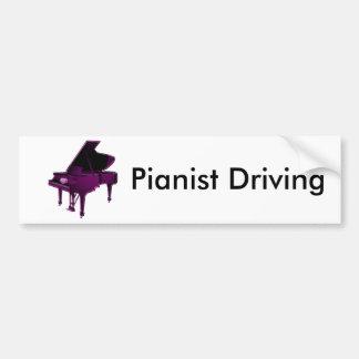 Grand Piano With Heart Bumper Sticker