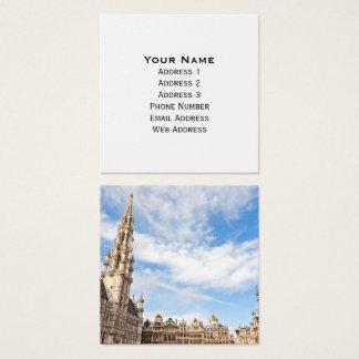 Grand Place in Brussels Square Business Card