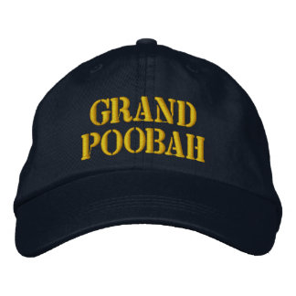 GRAND POOBAH Embroidered Cap Embroidered Baseball Caps