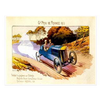 Grand Prix De France 1913 ~ Vintage Advertisement Postcard