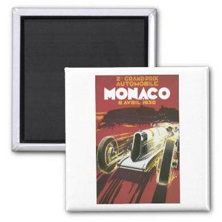 Grand Prix Monaco Avril 1930 Square Magnet