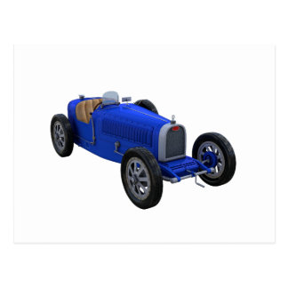 Grand Prix Racing Car in Blue Postcard