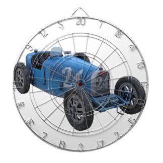 Grand Prix Racing Car in Light Blue Dartboard With Darts