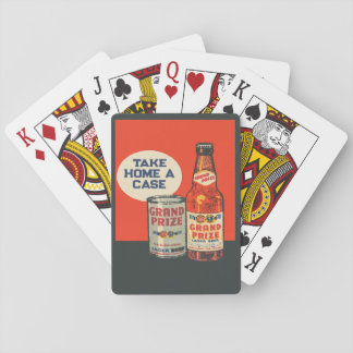 Grand Prize Beer By The Case Playing Cards