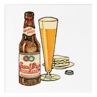 Grand Prize Lager Beer Acrylic Wall Art