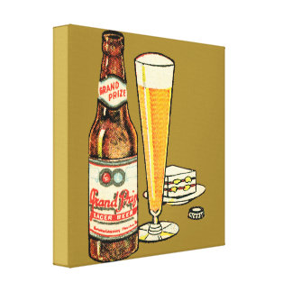 Grand Prize Lager Beer Canvas Print