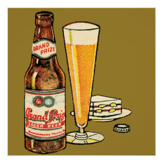 Grand Prize Lager Beer Poster