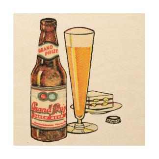 Grand Prize Lager Beer Wood Print