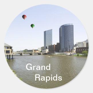 Grand Rapids City Michigan Round Sticker