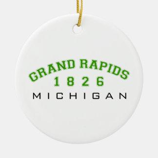 Grand Rapids, MI - 1826 Round Ceramic Decoration