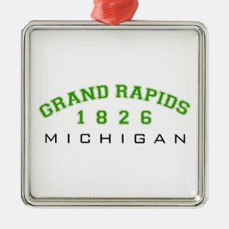 Grand Rapids, MI - 1826 Silver-Colored Square Decoration