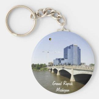 Grand Rapids Michigan Basic Round Button Key Ring