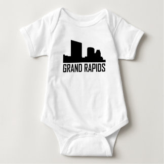 Grand Rapids Michigan City Skyline Baby Bodysuit