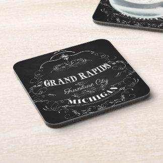 Grand Rapids, Michigan - Furniture City Beverage Coasters