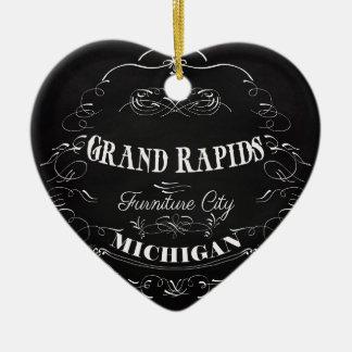 Grand Rapids, Michigan - Furniture City Christmas Tree Ornament