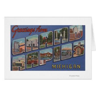 Grand Rapids, Michigan - Large Letter Scenes 2 Card
