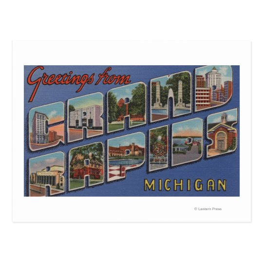 Grand Rapids, Michigan - Large Letter Scenes 2 Postcard